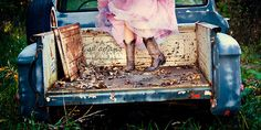 Me + Girlie Dress + Bed of a pickup truck. What more could you need??? Well, maybe a cute Texas boy to share it with... ;).