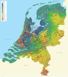 Nederland wandkaart - Hoogtekaart Laagtekaart 1:300.000 - plano reliefkaart - 12 provincien [12P605600] - €39.99 : Reisboekhandel Pied a Terre, Specialist in reisgidsen, landkaarten, plattegrond en globes
