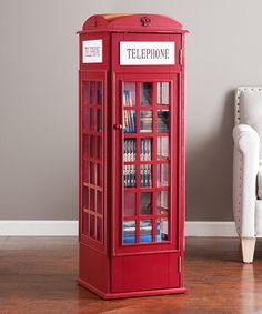 Another great find on #zulily! Phone Booth Storage Cabinet by Southern Enterprises #zulilyfinds