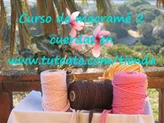 Free Online Macrame Course: Learn How to Make Decorative Knots (PART by Tuteate Macrame Bag, Macrame Bracelets, Micro Macrame Tutorial, Decorative Knots, Macrame Projects, Paracord, Patch, Diy And Crafts, Projects To Try