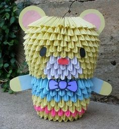 3D Origami - Colorful Bear