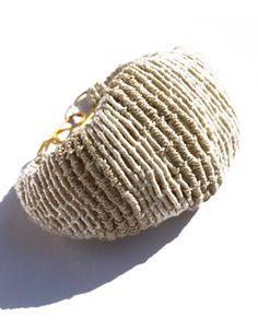 cocoon bracelet. silk. silver. gabriela horvat