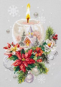 Modern Cross Stitch Hand Embroidery Kit with Pattern by Russian Manufacture Gingerbread Cross Stitch Gift Idea