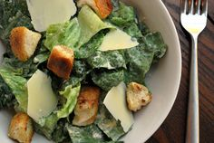 Chicken Ceasar Salad. Homemade dressing and croutons