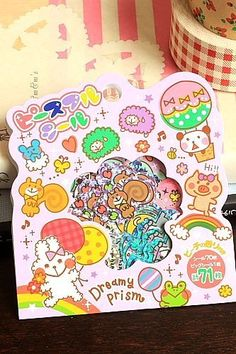 Japanese Kawaii Sticker Seal Flakes - Dreamy Prism
