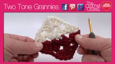 How to Crochet Two Tone Granny - The Crochet Crowd