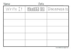 {Write It, Build It, Decorate It} Word Work Center - Jen Jones-Hello Literacy - TeachersPayTeachers.com