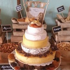 Forget Frosting, Cheese Wheel Wedding Cakes Are Next-Level (Photos) Wedding Cakes Made Of Cheese, Wedding Food Bars, Reasons To Get Married, Cheese Display, Wedding Cake Photos, Cake Wedding, Traditional Cakes, Celebration Cakes, How To Make Cake