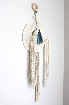 Macrame Wall Hanging Pipeline no.4 by HIMO ART One of a от HIMOART