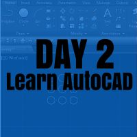 Here is the second day, where you are supposed to be given all information to help you learn AutoCAD in the most efficient manner. Learn Autocad, Cnc Programming, Cad Cam, Civil Engineering, Project Management, Extra Money, Insight, Technology, Learning