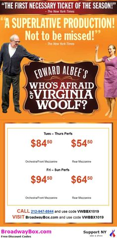 Who's Afraid of Virginia Wolf Broadway Discounts