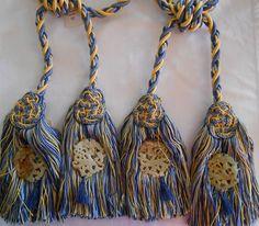 PAIR Scalamandre Duchessa Double Tassel Tieback Silk Jade Retail $1264 WOW! in Trims | eBay