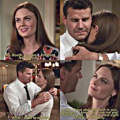 When Booth was forced to deny Bones' proposal by Pelant but Bones is willing to trust his reasons...