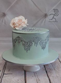 How to Make Silver Metallic Edible Lace