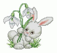 cross stitch bunny pattern - Google Search