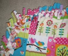 No-sew fleece blankets for Project Linus.