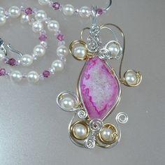 $98.00  Raspberry Bliss Necklace Set | AussenWolfDesigns - Jewelry on ArtFire