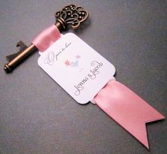 Key Bottle Opener  Wedding Favor  Blue Martini  Set of by Pedoozle