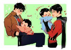 Baby Jason and Tim