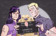 Hawkeye & Hawkeye-- I love how it includes Clint's ear piece ( don't remember what it's called)