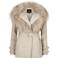 Women's new clothes from River Island - get this season's latest arrivals from your favourite high street store. Fur Collar Jacket, Faux Fur Collar, Pink Motorcycle, Women Motorcycle, Motorcycle Jacket, Pink Jacket, Winter Coats Women, Faux Leather Jackets, Trendy Outfits