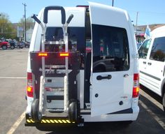 HTS Systems' HTS-20SFT hand truck safety rack allows full access to rear primary door without the need to swing the frame outward and it allows full access when opening both doors to the full open 180° degrees position. Commercial hand trucks can take-up 12'-15' cubic feet of valuable cargo space!