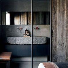 46 Rustic Industrial Bathroom Furniture Ideas - adventure and living Rustic Industrial Furniture, Industrial Bathroom, Industrial Decorating, Urban Industrial, Classic Bathroom, Furniture Design, Furniture Ideas, Bathroom Ideas, Men's Bathroom