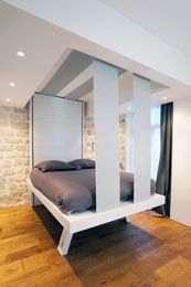French company Bedup makes beds that lower from the ceiling