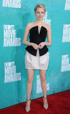 Emma Stone wearing Martin Grant (Fall 2012 collection) - AMAZING Red Carpet Outfit.