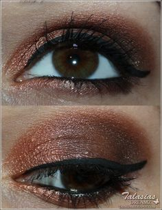 Brown Eye Make Up - Datum: 27.04.2012  http://talasia.blogspot.de/2012/05/nyx-dark-shadows-palette-angelique.html