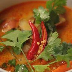 Tom Kha Kai Tom Kha Kai, Thing 1, Thai Red Curry, Toms, Stuffed Peppers, Fresh, Vegetables, Ethnic Recipes, Stuffed Pepper