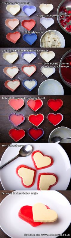 How to make jelly (jello) Valentine's heart desserts from www.amummytoo.co.uk