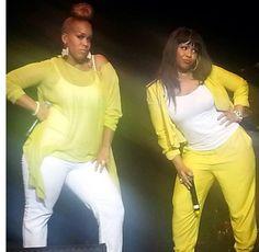 Mary Mary's Erica & Tina Campbell  Love the yellow!!!
