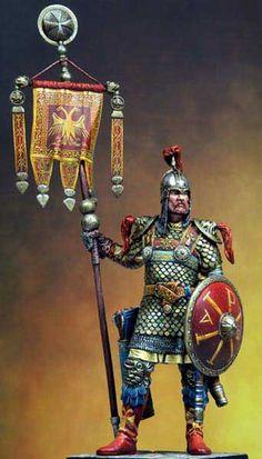 Byzantine standard bearer.