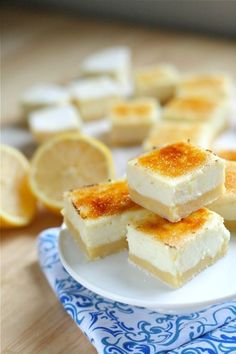 Lemon Cheesecake Creme Brule Bars... These are seriously addicting. You have been warned!