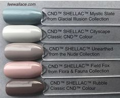 Neutrals CND Shellac comparison by Fee Wallace