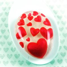 Valentine's Hearts soap Red Hearts Embeds in Clear soap Fancy Cute Custom Glycerin Unusual Bathroom decor Easter basket Stuffers Fillers soa Diy Soap Tutorial, Soap Images, Homemade Business, Decorative Soaps, Homemade Soap Recipes, Soap Packaging, Home Made Soap, Handmade Soaps, Soap Making