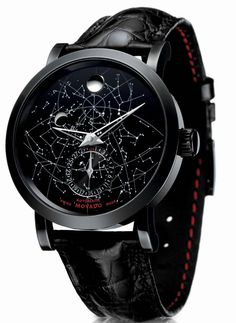 Red Label Skymap Movado Watch