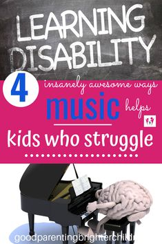 No matter the types of learning disabilities your child has, music can help. Music strategies and activities for helping kids who struggle can change how they learn and grasp new information. Music lessons are a must for kids who struggle. Music Activities For Kids, Music Lessons For Kids, Music For Kids, Learning Activities, Kids Learning, Piano Lessons, Elementary Choir, Music And The Brain, Music Classroom