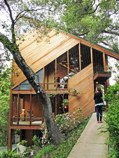 Amazing Wooden Home  Walstrom House by John Lautner   DesignRulz.com