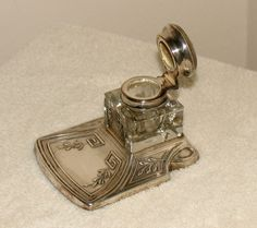 Sterling Silver Inkwell, ca.1900