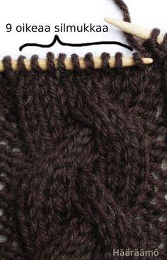 Hääräämö: Neulepalmikko kolmella + ohje Drops Design, Bobby Pins, Knitted Hats, Knit Crochet, Hair Accessories, Sewing, Knitting Tutorials, Knitting Ideas, Pattern