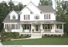 Check out inspiring Impressive House Plans Wrap Around Porch House Plans With Wrap Around Porches concepts from Julia Miller to upgrade your living . Porch House Plans, House With Porch, New House Plans, Country House Plans, Country Style Homes, House Front, Farmhouse Plans, Country Farmhouse, Modern Farmhouse