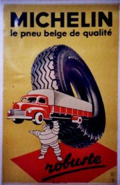 Michelin Poster 1963 Vintage Advertisements, Vintage Ads, Vintage Images, Vintage Posters, Michelin Man, Michelin Tires, Art Deco Posters, Car Posters, Bmw Autos
