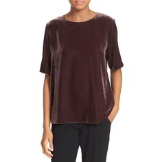 Women s vince elbow sleeve velvet tee 245 cad liked on polyvore