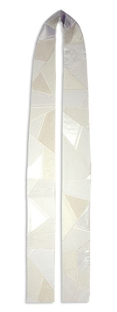 Patchwork White Silk Stole - gift for officiant @connielee