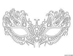 coloriage masque vénitien Lafayette grande image