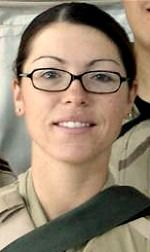 Air Force A1C Elizabeth N. Jacobson, 21, of Riviera Beach, Florida. Died September 28, 2005. serving during Operation Iraqi Freedom. Assigned to 17th Security Forces Squadron, Goodfellow Air Force Base, Texas. Died of injuries sustained when an improvised explosive device detonated beneath her convoy vehicle near Camp Bucca, Basra Province, Iraq.