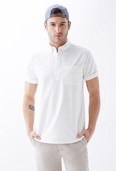 Cotton Oxford Popover Shirt | 21 MEN - 2000115319