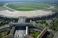 Tempelhof International Airport, Berlin, Germany, Image Credit: [Via] German Architecture, Landscape Architecture, Berlin Spandau, The Old Days, International Airport, Berlin Germany, Places To Travel, Places Ive Been, Around The Worlds